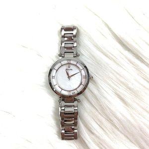 Bulova Women's silver stainless steel pearl watch